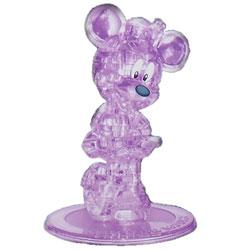 Фигурка 3D Кристал Пазл - Мини Маус (фиолетовый)