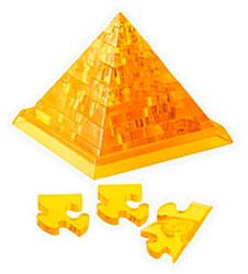 3D Кристал Пазл - Пирамида (жёлтый)