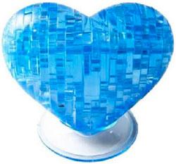 Фигурка 3D Кристал Пазл - Сердце (синий)