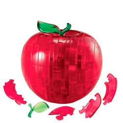 Фигурка 3D Кристал Пазл - Яблоко (красный)