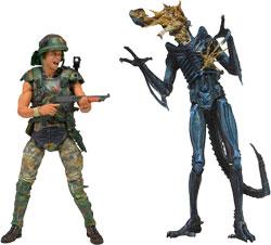 Aliens - Hicks vs. Xenomorph Warrior 2 Pack