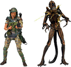 Фигурка Aliens - Hudson vs Brown Warrior 2 Pack