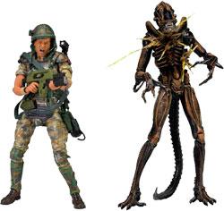 Aliens - Hudson vs Brown Warrior 2 Pack