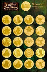 Pirates Of The Caribbean - Coins with Album (Set of 20)