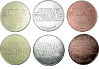 Star Wars - Metal Coins (Set of 6)