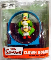 The Simpsons - Clown Homer and Krusty
