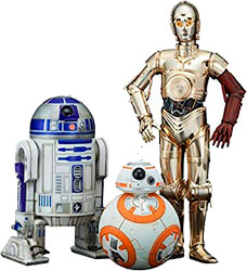 Фигурка Star Wars - C-3PO & R2-D2 With BB-8 (Statue Pack) 1/10