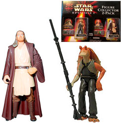 Фигурка Star Wars - Jar Jar Binks / Qui-Gon Jinn (Figure Collector 2-Pack) Ep1