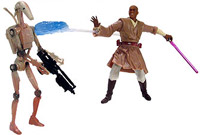 Фигурка Star Wars - Mace Windu with Blast-Apart Battle Droid Ep2