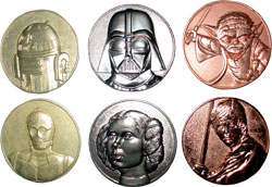 Фигурка Star Wars - Metal Coins (Set of 6)
