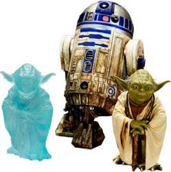 Star Wars - Yoda & R2-D2 Dagobah Version 1/10 Statues