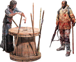 Фигурка The Walking Dead - Morgan with Impaled Walker (Deluxe Box)